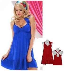 Betsey Johnson Swim Layer Cake Dress - Cherry Red